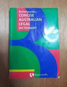 Butterworths Concise Australian Legal Dictionary Coopers Plains Brisbane South West Preview