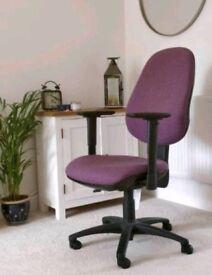 Purple computer desk chair