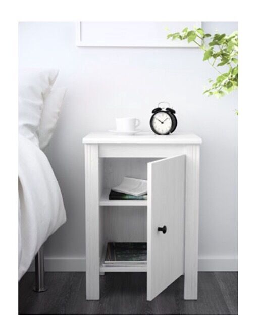 Whitewood bedside table