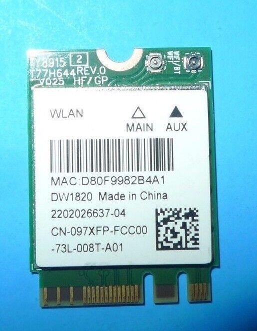 Dell DW1820 Qualcomm Atheros QCNFA344A WLAN Wireless Card Rev A01 97XF