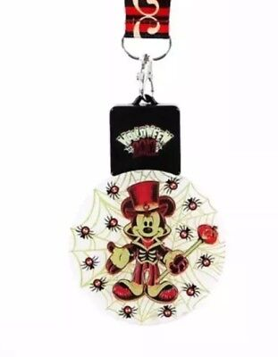 New Disney Parks 2017 Halloween Mickey Web Animated Light Up Flashing Necklace - Animation Halloween 2017