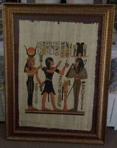 Gold Framed Papyrus Egyptian Picture! Butler Wanneroo Area Preview