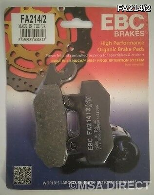 Triumph Bonneville (2001 to 2015) EBC Kevlar REAR Brake Pads (FA214/2) (1 Set)