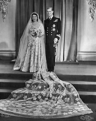 1947 QUEEN ELIZABETH & KING PHILIP MOUNTBATTEN Glossy 8x10 Photo Wedding Poster