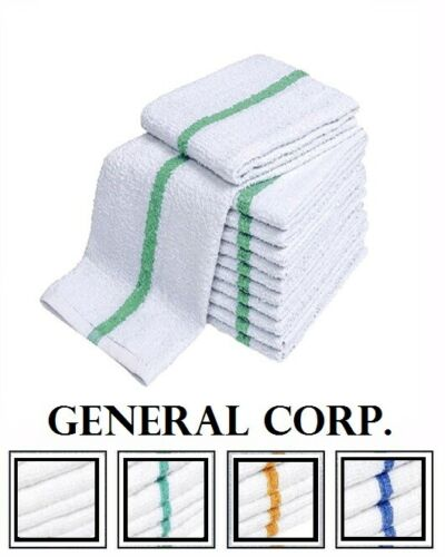60 green stripe super bar towel bar mop kitchen restauran cleaning towels 33oz