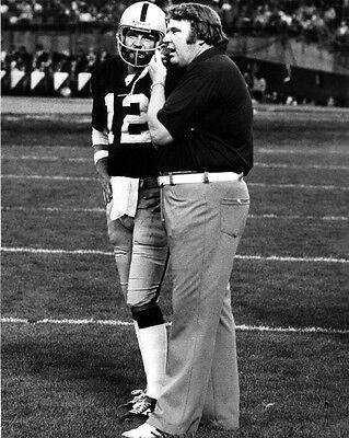 (Oakland Raiders JOHN MADDEN & KEN STABLER 8x10 Photo NFL Football Print Poster)