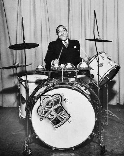 Jazz Drummer CHICK WEBB Glossy 8x10 Photo William Poster Bandleader Print