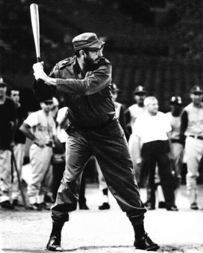 Prime Minister of Cuba FIDEL CASTRO Glossy 8x10 Photo Print Poster Baseball