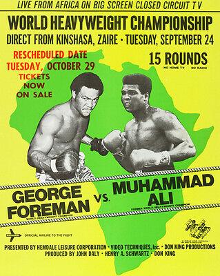 1974 Heavyweight Boxers GEORGE FOREMAN vs MUHAMMAD ALI Glossy 8x10 Photo Poster