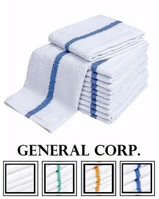 60 Blue Stripe Super Bar Towel Bar Mop Kitchen Restaurant Cleaning Towels 33oz