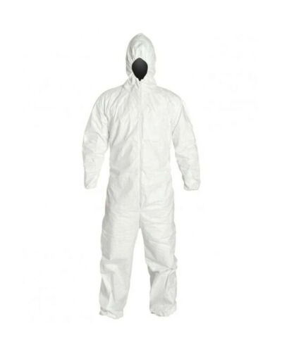PROMAX II Disposable Coveralls Zip Front w/ Hood, Elastic Wrists and Ankles