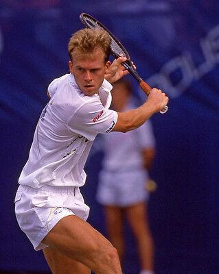 Swedish Tennis Pro STEFAN EDBERG Glossy 8x10 Photo Open Print Wimbledon Poster