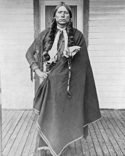 1890 Comanche CHIEF QUANAH PARKER Glossy 8x10 Photo Native American Poster Print