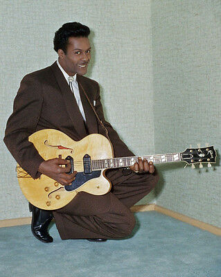 American Blues Singer CHUCK BERRY Glossy 8x10 Photo Music Guitarist Print Poster