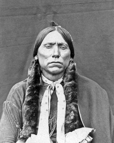 Comanche CHIEF QUANAH PARKER Glossy 8x10 Photo Native American Poster Print