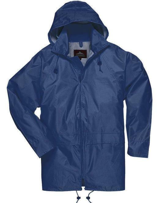 Men Womens Rainwear Waterproof Rain Jacket Coat Attached Hoo
