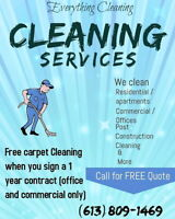 Everything Cleaning services (Gatineau) 613-809-1469