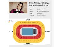 2x Robbie Williams seated tickets
