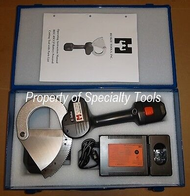 Huskie Rec-85ccp Battery 14.4v Robo Wire Cutter 3 Telcom Cable Cutting Tool