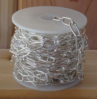 CABLE CHAIN 10mm x 20mm Beautiful Silver Plate ~ LARGE Links ~ Various Lengths ()