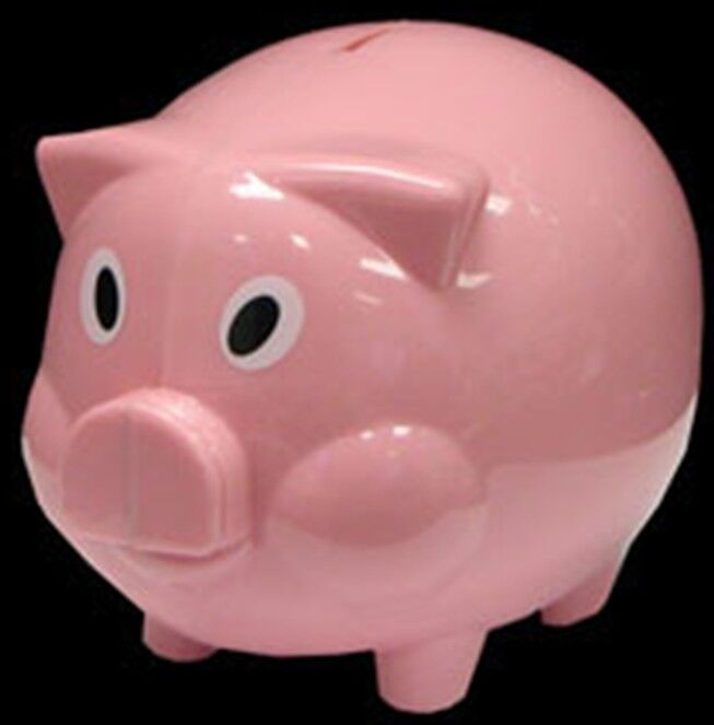 NEW Pink PIGGY Bank Coin Money Cash Collectible Plastic Savings Pig Toy Safe Box