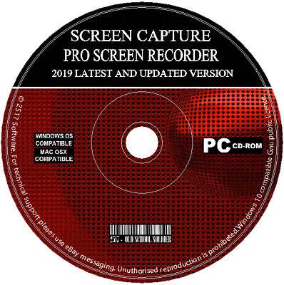 Screen Capture Recorder 2019 Record Your Desktop + Video Editor Converter PC MAC