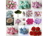Mulberry Paper Flowers for Crafts - Job Lot worth over £2,500 - Shop Clearance