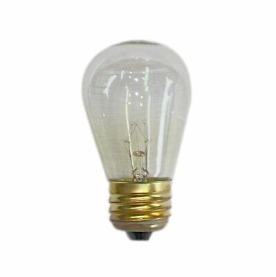 String Light Company S1411WC Clear S14 Light Bulb E26 Base 11-Watt (Pack of 12)