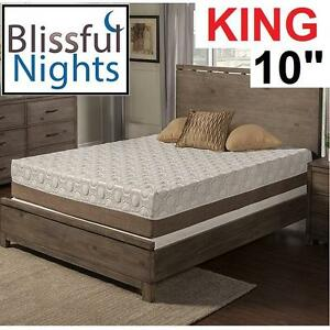 "NEW* DAHLIA MEMORY FOAM MATTRESS - 120770509 - KING 11"" BAMBOO HOME DECOR BEDROOM FURNITURE"