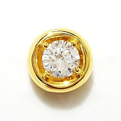 1 Ct Solitaire Round Diamond Pendant Charm SOLID 14k Yellow Gold Jewelry