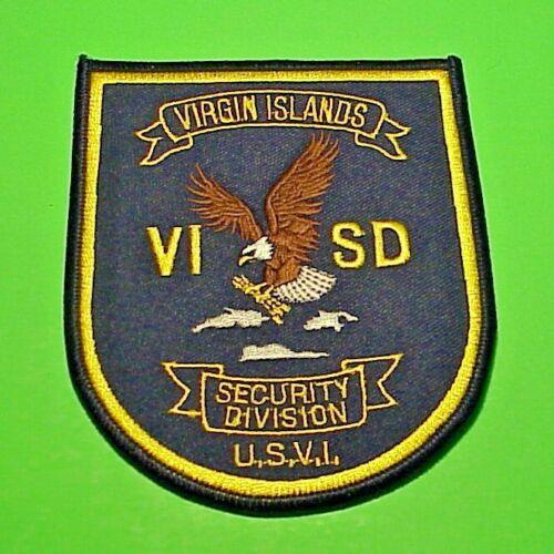 """VIRGIN ISLANDS  U.S.V.I.  SECURITY DIVISION  POLICE PATCH  4 1/2"""""""