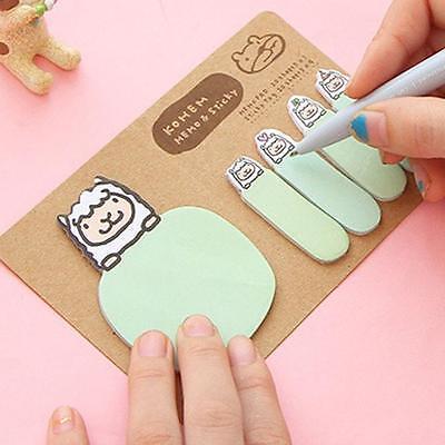 New Animal Kraft Mini Note Paper Sticky 4 Styles Notes Memo Pad Gift Stationery