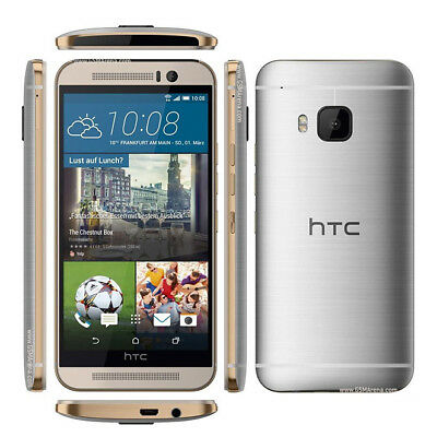 "Gold Greyish-white Smartphone HTC One M9 AT&T GSM 4G LTE 32GB 5.0"" Android 20MP UNLOCKE"