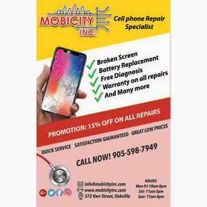 Cracked Screen? Need a phone repair? We can fix it @ MobiCity