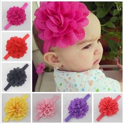 10PCS Kids Girl Baby Headband Toddler Bow Flower Hair Band Accessories Headwear