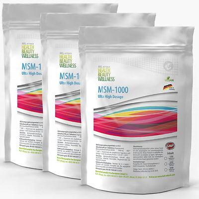 360 Tabletten (Vegan) MSM á 1000mg - HOCHDOSIERT - Methylsulfonylmethan Gelenke ()