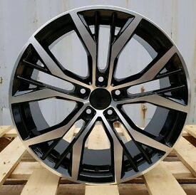 "NEW 19"" VW SANTIAGO STYLE ALLOY WHEELS X4 BOXED 5X112 GOLF MK5 MK6 MK7 CADDY SCIROCCO AUDI"