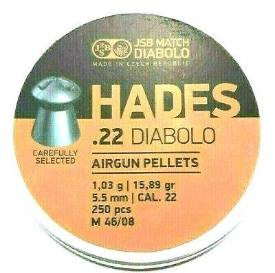 JSB MATCH HADES .22 Power Diabolo 15.89 Hot Fast Ship AIR GUN PELLETS (250 -
