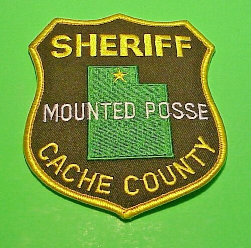 "CACHE COUNTY UTAH UT MOUNTED POSSE SHERIFF 4 3/4"" POLICE PATCH  FREE SHIPPING!!!"
