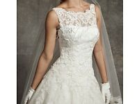 Justin Alexander ivory wedding dress