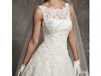 Justin Alexander ivory wedding dress