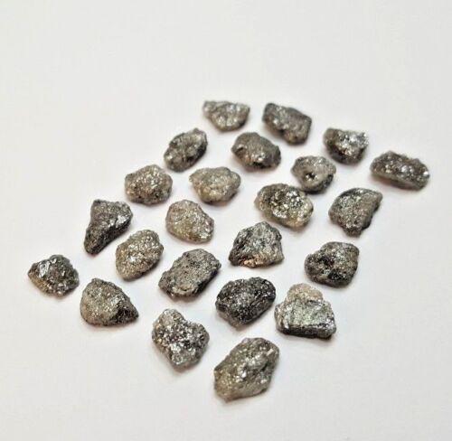 Uncut Rough Diamond Lot 5 - 14MM Gray Sparkling Natural Irregular shape for Ring