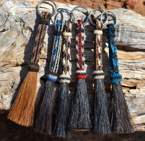 Beautiful 100% Horse Hair Key Ring Chain - Various Colors *** Great Gift ***