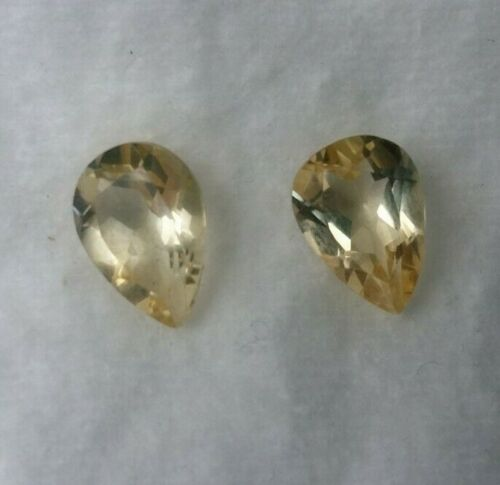 2+Pieces+Of+Loose+Natural+Earth+Mined+Brazilian+Citrine+Pear+Cut+Gems