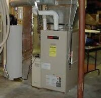 furnace plumbing   ductwork  gas lines smoke duct detector