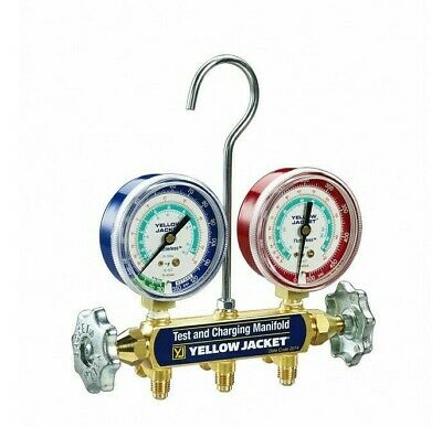 Yellow Jacket 41312 2 Valve Series 41 Manifold Only For R134a404a507