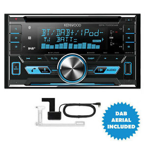 KENWOOD DPX-7000DAB 2-DIN CAR/VAN CD iPod DAB+ Bluetooth Stereo + Aerial