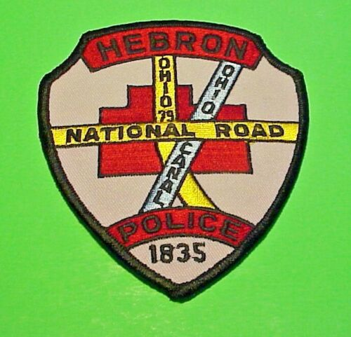 HEBRON  OHIO  1835  OH ( MISSING LEAF  TOP LEFT )  POLICE PATCH FREE SHIPPING!!!