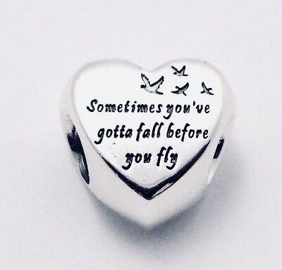 Authentic Pandora Heart Of Freedom Charm. #791967 W/ Pandora TAG & HINGED BOX