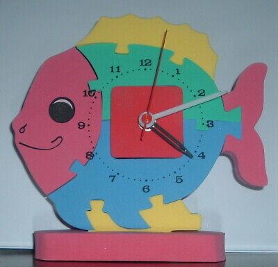 Multi Coloured Foam Rubber Puzzle Battery Operated Fish Clock